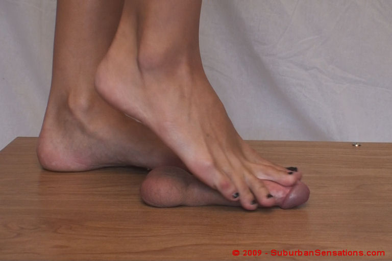 Cock And Ball Crushing With Bare Feet